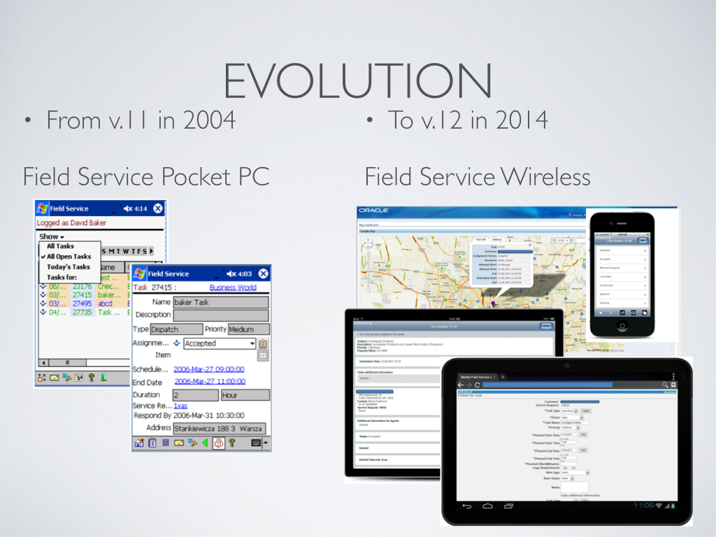 The Evolution of Oracle Mobile Field Service