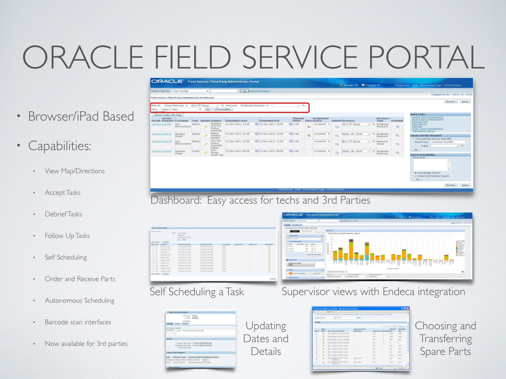 Oracle Field Service Portal
